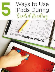 Using iPads during Guided reading can be intimidating, but there are several ways that we can implement them into group time easily! Read this guided reading blog post to learn 5 simple ways to use ipads during guided reading for kindergarten and first grade students!