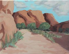 Original Acrylic Landscape Canyon De Chelly by PeculiarPeccary