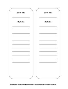 Free Bookmark Templates  Bookmarks    Bookmark