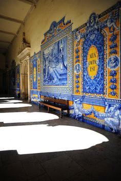 College of St Tomas, Portugal Glazed Ceramic Tile, Glazed Tiles, Tile Art, Mosaic Tiles, St Tomas, Coimbra Portugal, Tile Panels, Tile Countertops, Portuguese Tiles
