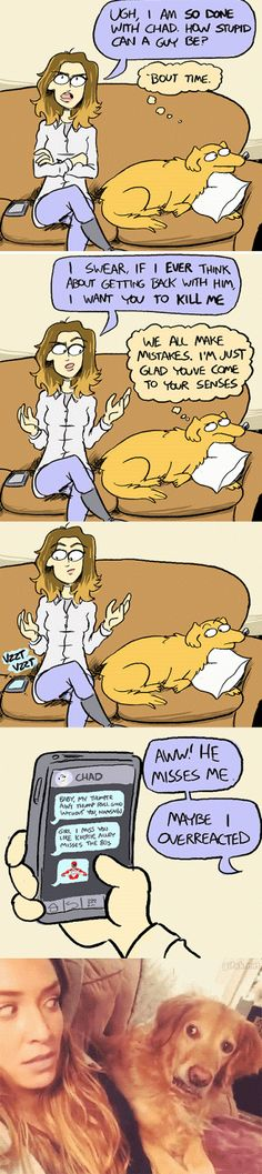 Hahahahaha! I wonder what the dog is thinking...