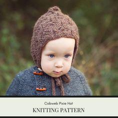 Knit bonnet pattern pixie baby pixie bonnet pattern Baby | Etsy