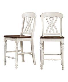 Look at this #zulilyfind! White Counter-Height Chair - Set of Two #zulilyfinds