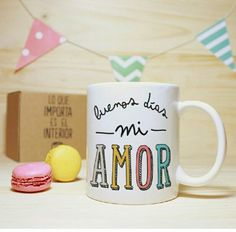 Mugs, Tableware, Amor, Good Night, Interiors, Happy Day, Dinnerware, Cups, Tumblers