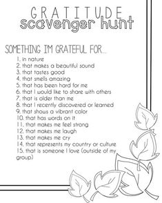 Gratitude scavenger hunt for kids Thanksgiving Activities, Activities For Kids, Thanksgiving Crafts, Spring Activities, Outdoor Activities, Kindness Activities, Nursery Activities, Wellness Activities, Bonding Activities
