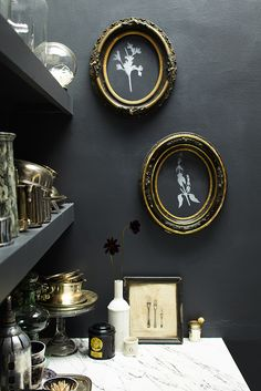 Vintage frames and Benjamin Moore Chalkboard Paint can easily decorate any room. Get more great ideas for Chalkboard Paint on BenjaminMoore.com.