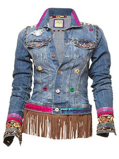 Jeans, denim jacket Source by jacintagroenenstijn Denim And Lace, Ibiza Fashion, Denim Fashion, Vintage Jacket, Vintage Denim, Diy Sac, Diy Vetement, Look Boho, Denim Ideas
