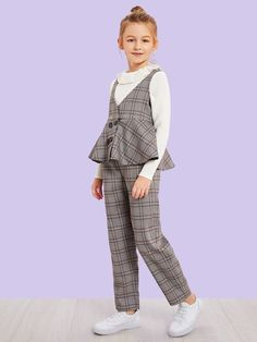 Cute Lazy Outfits, Kids Outfits Girls, Girls Fashion Clothes, Teen Fashion Outfits, Little Girl Dresses, Kids Fashion, Girl Outfits, Moda Junior, Junior Girls Clothing