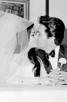 Wedding Kiss...  Elvis & Priscilla Presley  May 1, 1967  The Alladdin Hotel in Las Vegas