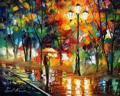 Summer Rain- Original oil painting on canvas