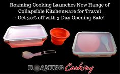 Roaming Cooking Launches New Range of Collapsible Kitchenware for Travel