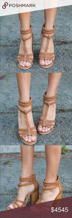 "COMING❣️Tailor Braided  Block Heel Tailor Braided  Block Heel Get a boho update with these adorable braided sandals for the spring season! Features a braided t-strap, an open toe, a cylinder block heel and a back zip closure. Material: Man made Sole: Synthetic Measurement: heel height: 4"" (approx) Fitting: True to size. Please comment to be notified of arrival very limited sizing. GlamVault Shoes Sandals"