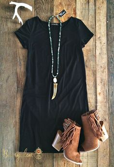 Free Bird Dress - Black