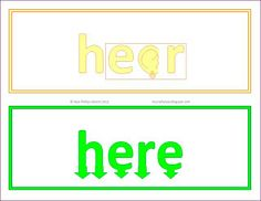 Free Illustrated Homophone Word Cards #ela