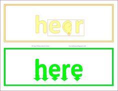 Free Illustrated Homophone Word Cards #ela