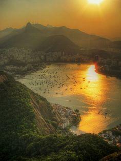Setting Sun Over Botafogo | by AJ Brustein