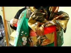 名古屋帯で結んであげる「変わり銀座結び」 【青山きもの学院 銀座結び・変わり銀座結び入門】(8) - YouTube