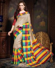 Multi Color Bhagalpuri Casual Wear Sarees : Krushi Collection YF-28154
