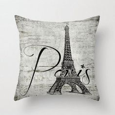 Eiffel Tower Pillow Paris French Home Home by BrandiFitzgerald, $34.99