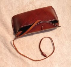 Vintage leather glasses case leather glasses by MagicLeatherStudio