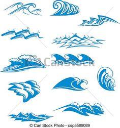 波 デザイン - Google 検索