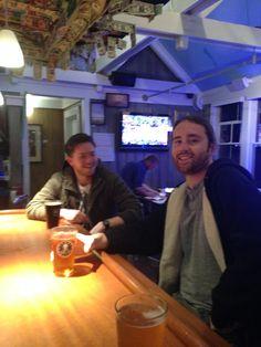 Neil & Chris enjoying a pint at Mojo's