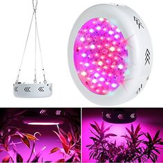 UNIHA 200W Full Spectrum LED Grow Light for Indoor Plants UFO Style LED Grow Lamps Sterilization Stimulating Cell Division and Increasing Yield -- Visit the image link more details.(This is an Amazon affiliate link and I receive a commission for the sales)