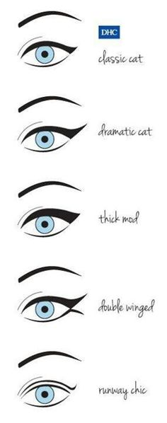 Different cat eyes styles!!
