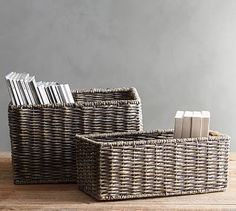 Samantha Baskets, Gray #potterybarn