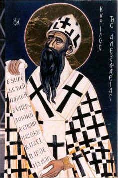 Saint Cyril of Alexandria.  He believed Mary should be called Mother of God. :)