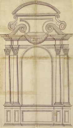 architectural structure of tomb. Architecture Classique, Baroque Architecture, Classic Architecture, Architecture Drawings, Historical Architecture, Architecture Details, Interior Architecture, Gothic Windows, Cardboard Sculpture