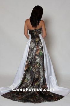 2015 Strapless Camo Wedding Dress with Pleats Empire Waist A line Sweep  Train Camouflage Bridal Gowns Free Custom Made ccd2ce43b808