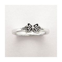 Sterling Silver Ladies' Cross Ring - w/Butterfly - Christian Rings for $49.60   C28.com-- Also love this!