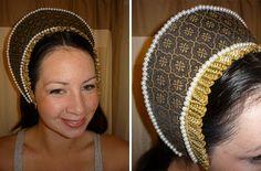 DIY French Hood Anne Boleyn style.