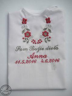 Košieľka na krst k14 bavlna biela, ružovo-šedá výšivka Sweatshirts, T Shirt, Fashion, Supreme T Shirt, Moda, Tee Shirt, Fashion Styles, Trainers, Sweatshirt