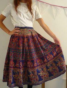 Indian skirt Short Girl Fashion, Modest Fashion, Fashion Outfits, Teen Fashion, Indian Attire, Indian Wear, Indian Outfits, Street Style India, Indian Skirt