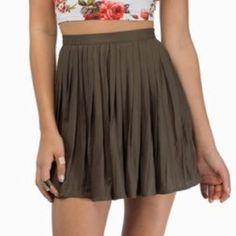 PRICE REDUCTION! Tobi Skirt A beautiful, lightweight pleated skirt in olive green. Tobi Skirts