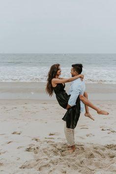 Neha + Amit - Santa Monica Beach Couples Shoot — California Wedding and Elopement Photographer Couple Beach Photos, Family Beach Pictures, Beach Couples, Couple Pictures, Santa Monica, Beach Poses, Beach Shoot, Photoshoot Beach, Pre Wedding Praia