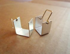 Silver Cubicle Earrings by Laminar on Etsy