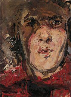 Robert Lenkiewicz, Self-Portrait, c.1956, Oil on board, 21 x 16 cm.