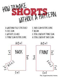 make shorts pattern