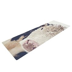 KESS InHouse Debbra Obertanec Snowy Cow Exercise Yoga Mat Black White 72 by 24 *** Check out the image by visiting the link. (Note:Amazon affiliate link)
