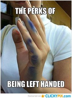 It's International Left Handers Day, August 13th! Yes there is a day for you left-handed folks out there!!