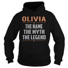 OLIVIA The Myth, Legend - Last Name, Surname T-Shirt