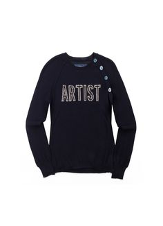 SWEATER RAGLIS BIS CO KID, navy, Zadig & Voltaire.   Lovin' these buttons on the sholder