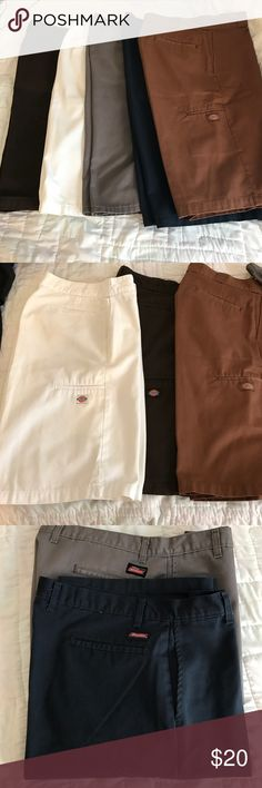 Lot of 5 Dickies shorts (3) size 34 (2) size 36 DICKIES LONG BOARD SHORTS LOT OF 5. Three pair are 34 two are size 36 Dickies Shorts Cargo