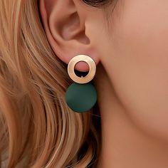 Full Ear Earrings, Cheap Earrings, Simple Earrings, Women's Earrings, Geometric Jewelry, Kugel, Leather Earrings, Polymer Clay Earrings, Jewelry Accessories