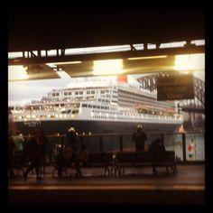 QM2 in Sydney Harbor, Australia