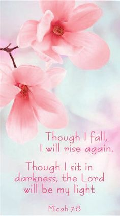 Though I fall. Powerful Scriptures, Biblical Quotes, Prayer Quotes, Religious Quotes, Bible Verses Quotes, Bible Scriptures, Uplifting Bible Verses, Bible Verse Wallpaper, Inspirational Prayers