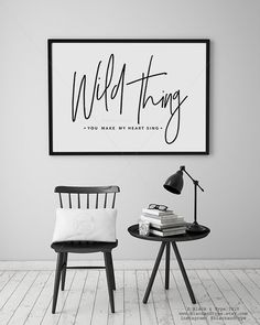 || WILD THING||  ...with a choice of 3 text lines: - come on and hold me tight - I think I love you - you make my heart sing  you can find the perfect sentiment for your wild thing ♥  Want to upsize it to an A3 size? Step this way: https://www.etsy.com/au/listing/190329331/any-print-to-a3-size-poster-typography  | P R I N T _I N F O | • PRINT SIZES: 8 x 10 (20.32 x 25.4cm) design printed on A4 (11.7 x 8.3) • PAPER: Epson Premium Paper - 200 GSM • INK: Epson archi...